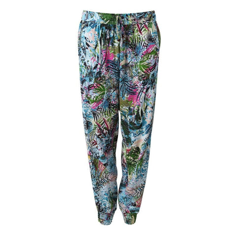 Tropical Leaf Print Joggers