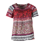 Mixed Floral Print Cotton Top