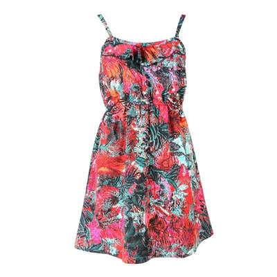 Hot Tropical Print Skater Dress