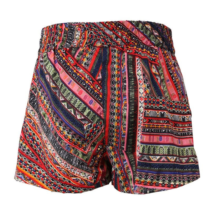 Patchwork Print Shorts