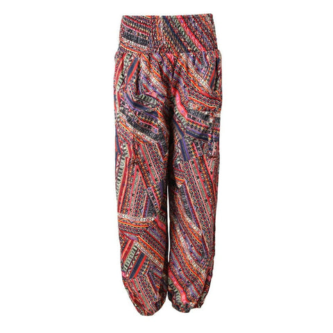 Patchwork Print Genie Trousers