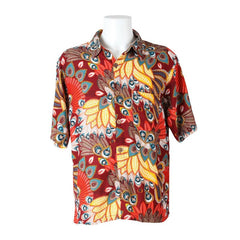 Tropical Peacock Print Hawaiian Shirt