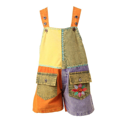 Kids Festival Dungarees Shorts