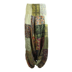 Patchwork Low Aladdin Pants