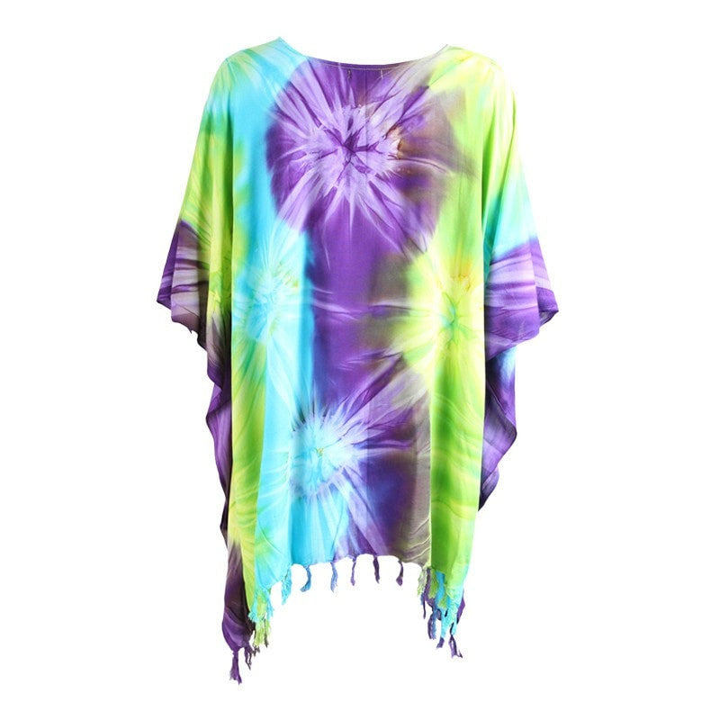 Tropical Tie Dye Beach Cover Up
