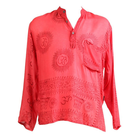 Om Print Soft Cotton Relaxed Shirt
