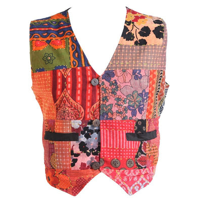 Ultimate Kantha Patchwork Waistcoat