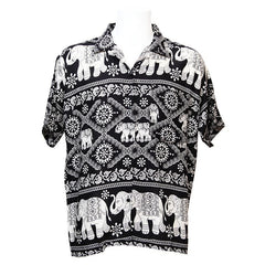 Elephant Printed Oversized Shirt