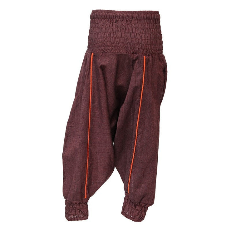 Kids Plain Harem Pants, Brown back