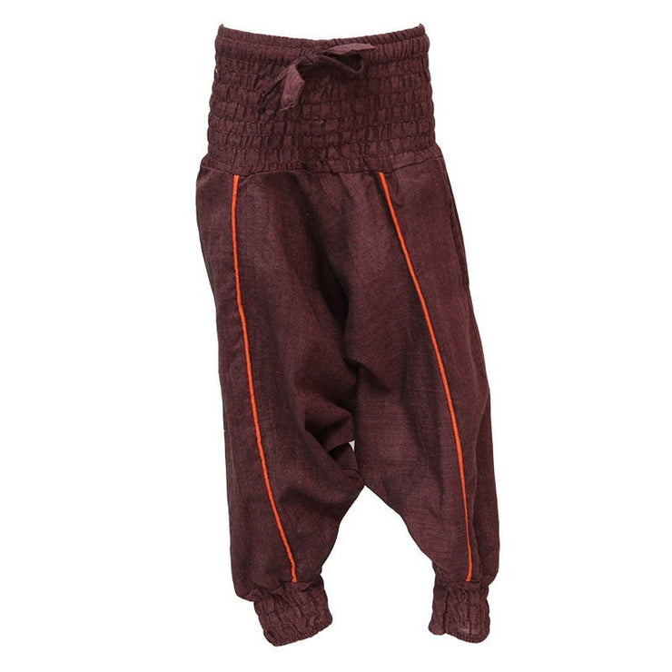 Kids Plain Harem Pants, Brown