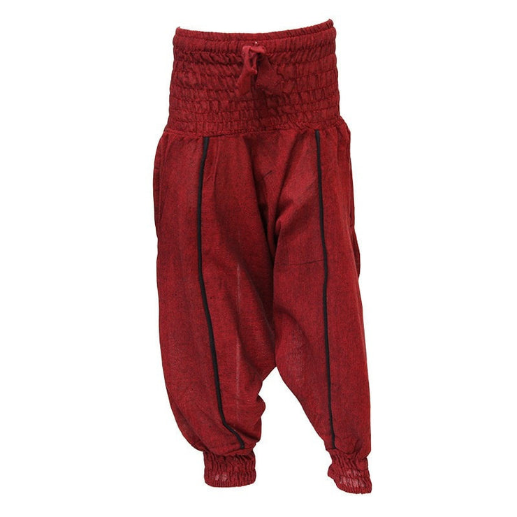 Kids Plain Harem Pants, Red