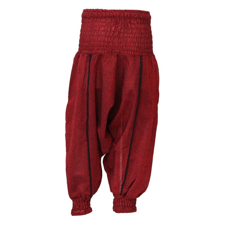 Kids Plain Harem Pants, Red back