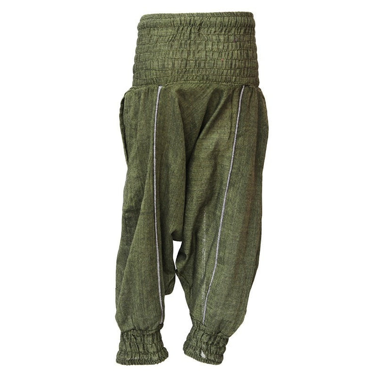 Kids Plain Harem Pants, Green back