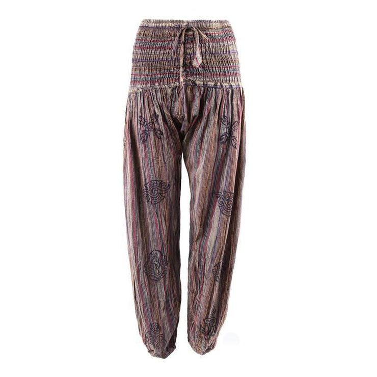 Stonewashed Harem Trousers