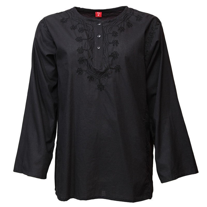 Embroidered Oversized Kurti Shirt