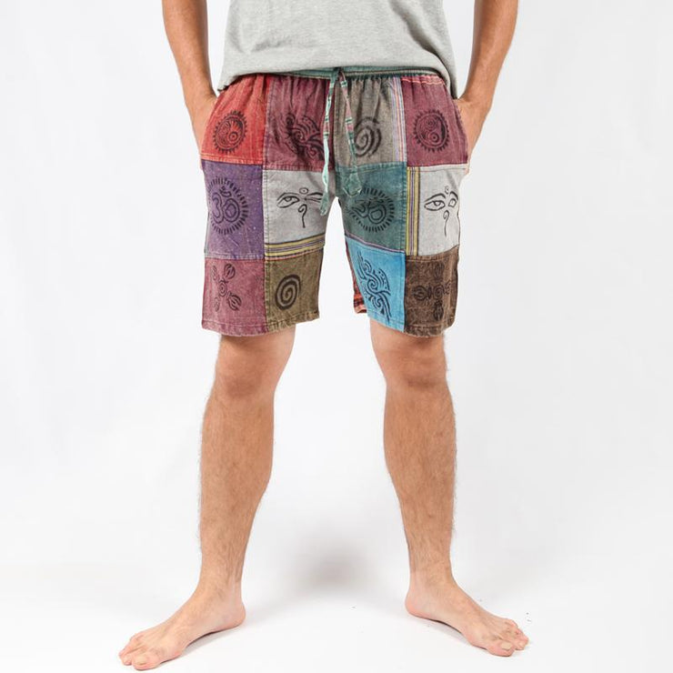 Cotton Patchwork Shorts