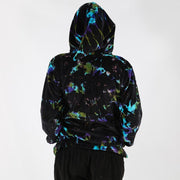 Velvet Tie Dyed Embroidered Jacket