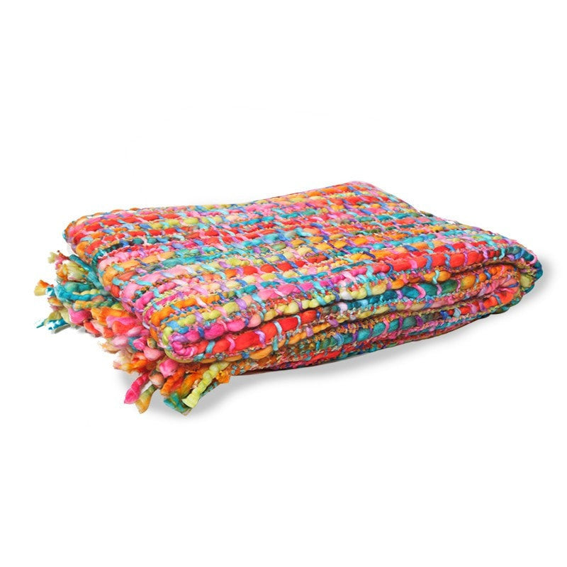 Woven Rainbow Throw