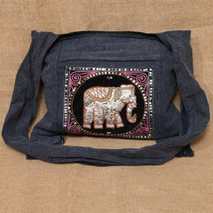 Cotton Sequin Elephant Bag