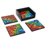 Set of 4 Rainbow Mosaic Coasters
