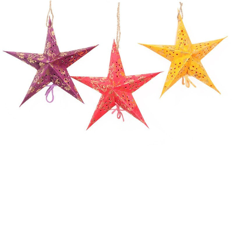 Pack of 8 Handmade Paper Stars