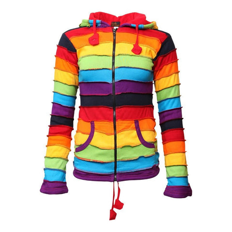 Fleece Lined Rainbow Hoodie