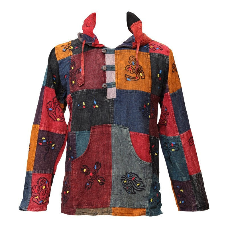 Patchwork Painted Hoodie Shirt