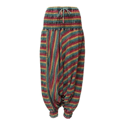 Rasta Low Crotch Harem Pants