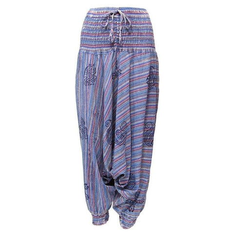 Men's Acid Wash Drop Harem Pants