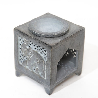 Grey Soapstone Elephant Oil Burner