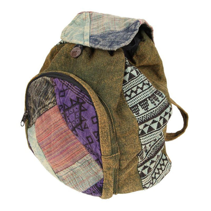 Aztec Cotton Backpack with Front Pocket