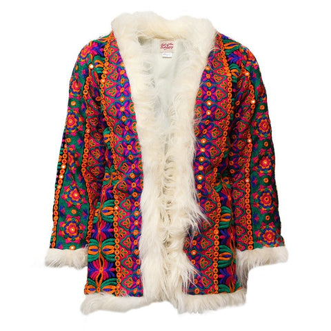 Talulah Embroidered Afghan Coat
