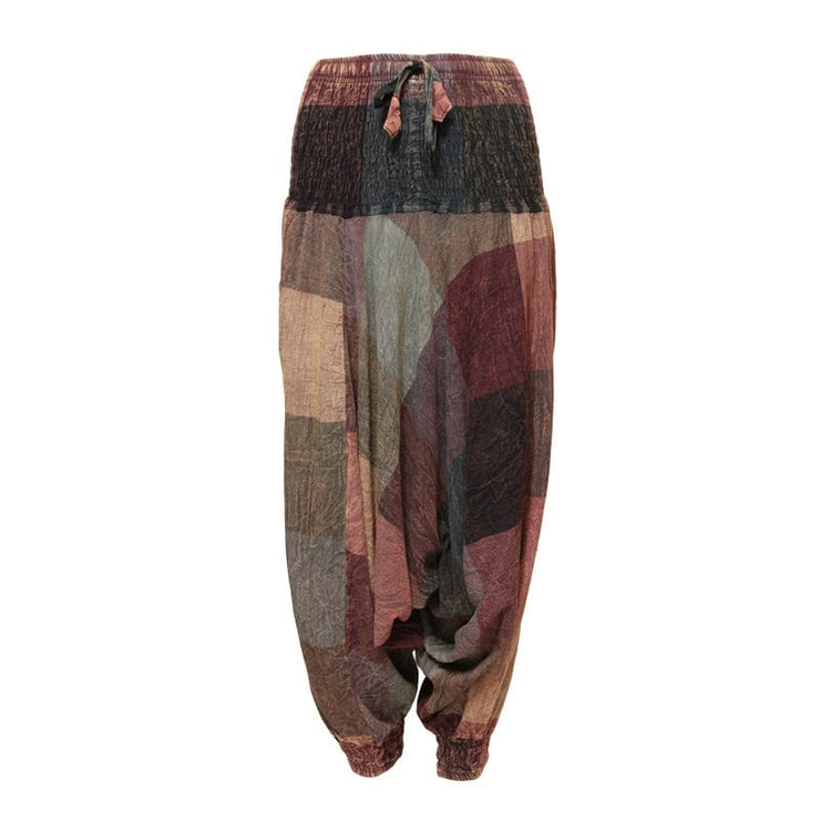 Men's Large Check Harem Pants