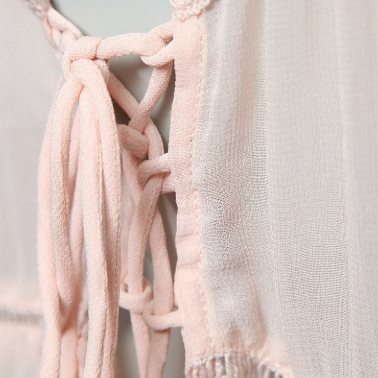 Glamorous Lace Up Detail Cami Dress