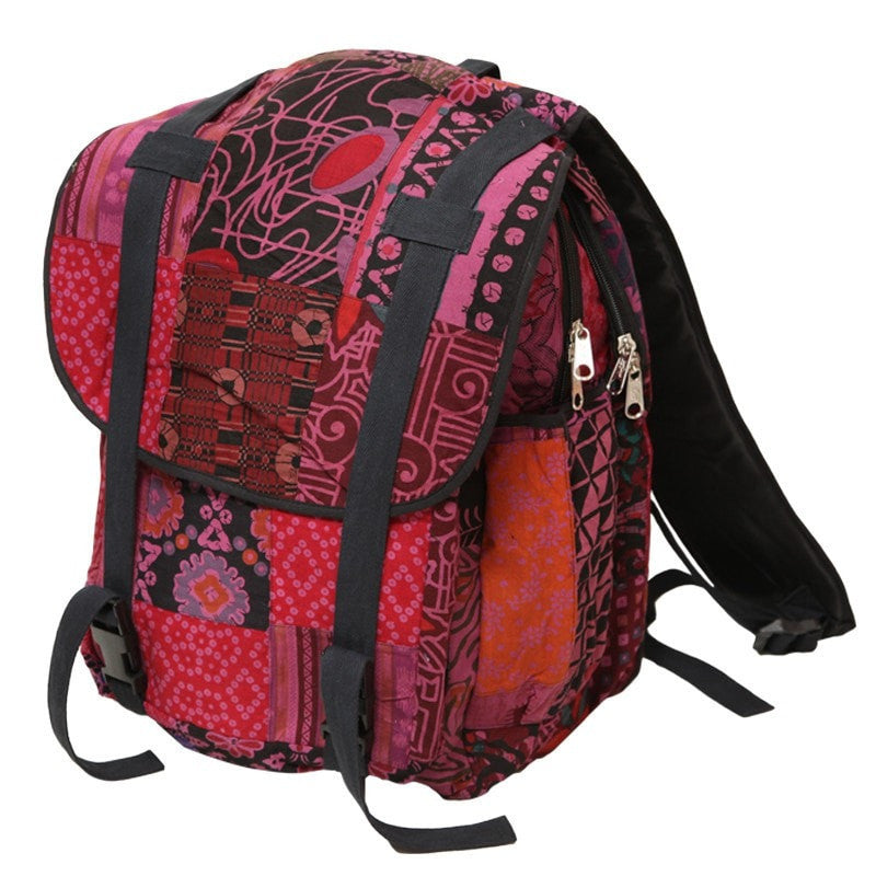 Patterned Travel Backpack