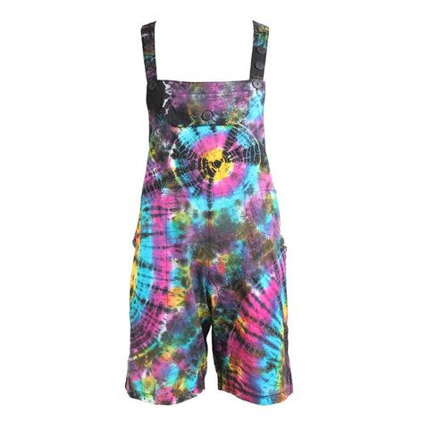 Tie Dye Dungarees Shorts