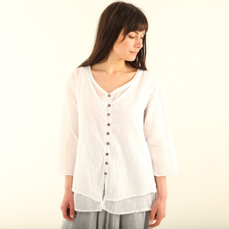 Relaxed Layered Blouse