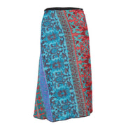 Abstract Floral Wrap Tie Skirt