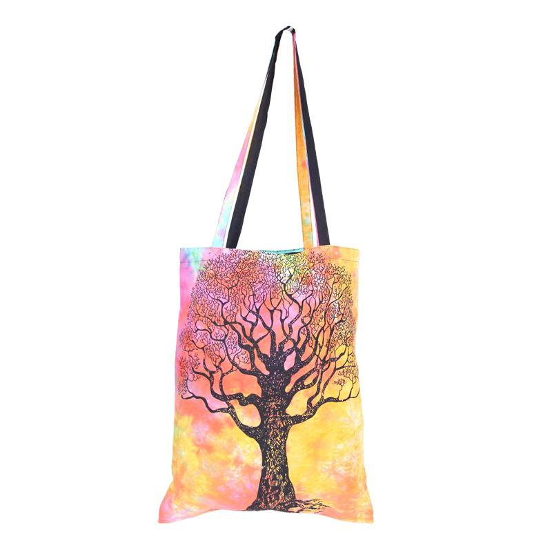 Tie Dye Tree Of Life Shopping  Bag