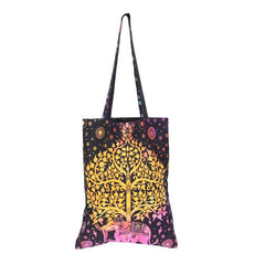 Tie Dye Indian Elephant Shopping  Bag