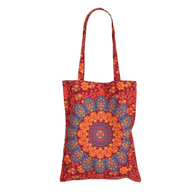 Peacock Print Shopping Bag