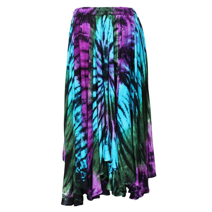 Midi Embroidered Tie Dye Gypsy Skirt