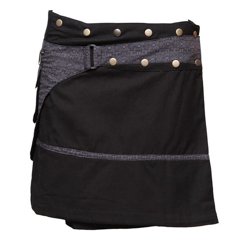 Wrap Mini Skirt With Pocket