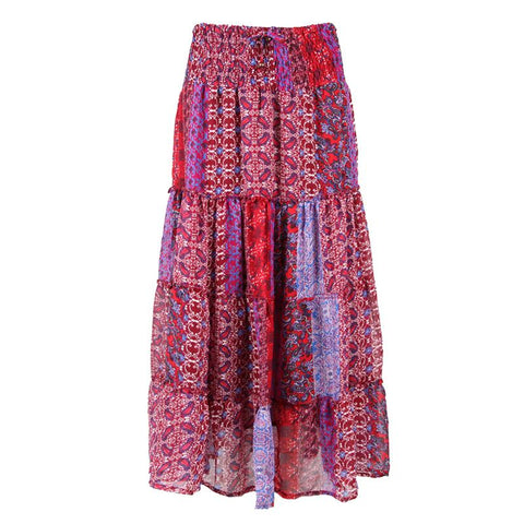 Layered Patchwork Skirt