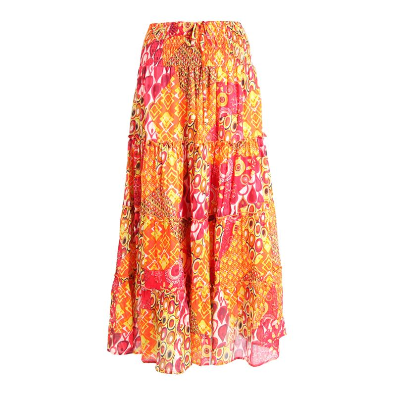 Long Cotton Gypsy Skirt