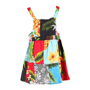 Kids Patchwork Dungarees Dress