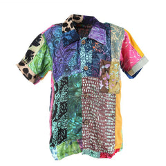 Kids Patchwork Short Sleeve Shirt