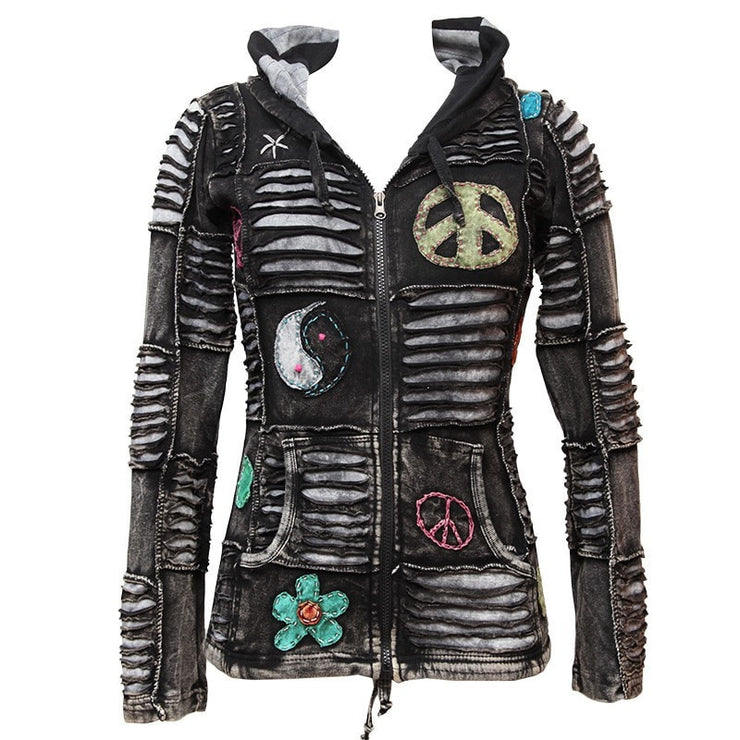 Peace Ripped Pixie Hoodie