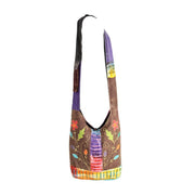 Embroidered Slouch Shoulder Bag
