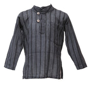 Kid Striped Collarless Shirt